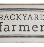 "29-3/4""L Wood Framed Wall Decor, ""Backyard Farmer"