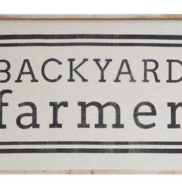 "29-3/4""L Wood Framed Wall Decor, ""Backyard Farmer"