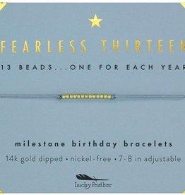 Birthday Bracelet-Fearless Thirteen