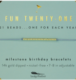 Birthday Bracelet- Fun Twenty-One