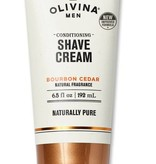 Olivina Shave Cream - Bourbon Cedar - 6.5 fl oz