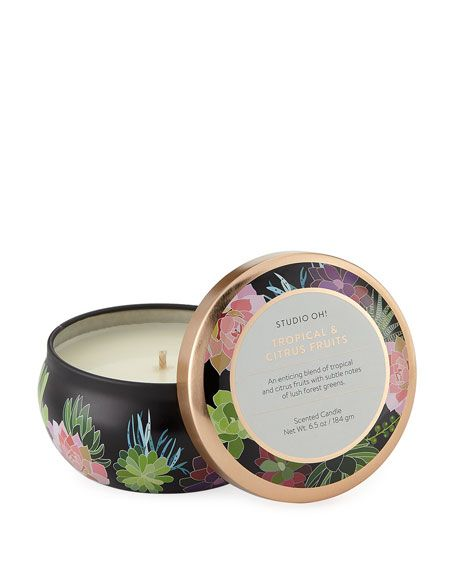 Tropical + Citrus Fruits Tin Candle