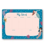 Mermaid Tales Weekly Desk Pad