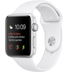 Apple Apple Watch Series 1 (Silver Aluminum, 38mm) New Strap - 30 Day Exchange