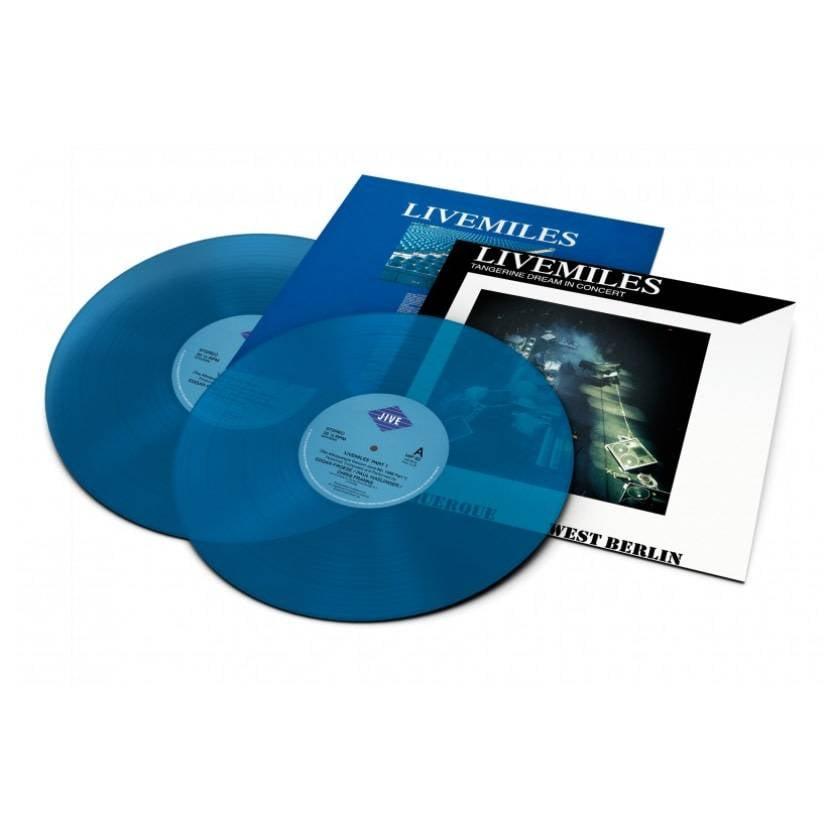 Tangerine Dream - Livemiles [2LP] (Transluscent Blue Vinyl, OBI strip, gatefold, first time reissued on vinyl, printed inner sleeve, limited to 1200, indie-retail exclusive)