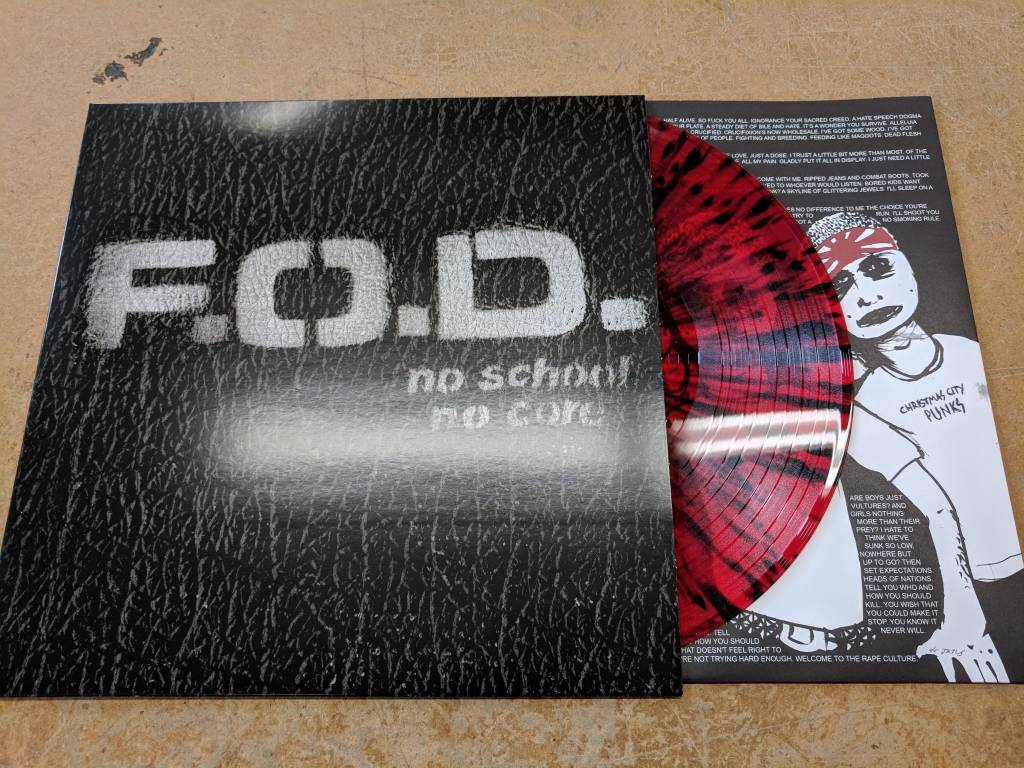 FOD (Flag of Democracy) - No School No Core (Red with Black Splatter)