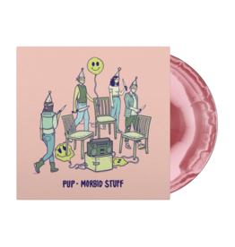 (PREORDER 4/5) Pup - Morbid Stuff (Indie Exclusive Pink and Oxblood Color Vinyl, Limited to 2000) and limited edition zine flexi gift