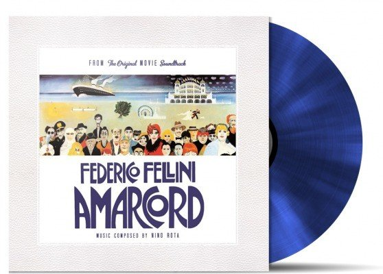RSD-Nino Rota - Amarcord (Soundtrack to 1973 Fellini film) [LP] (Transparent Blue 180 Gram Audiophile Vinyl, import, limited to 500, indie-exclusive)