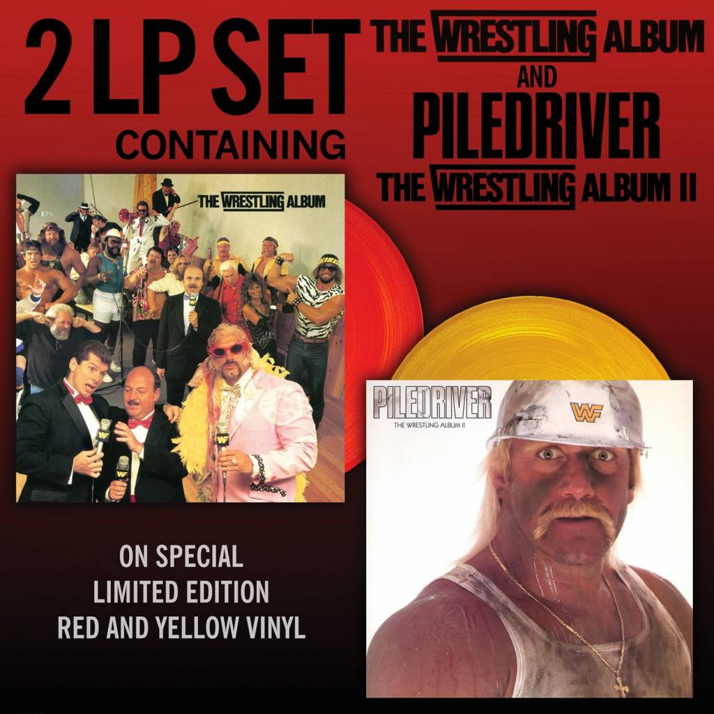 Various Artists - The Wrestling Album/Piledriver (30th Anniversary Edition) [2LP] (Red And Yellow Vinyl, limited to 4000, indie-retail exclusive)