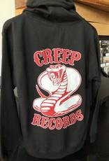 Creep Records Snake Zip-Up Hoodie