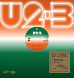 U2 - Three [12'' EP] (40th Anniversary Edition, remastered, 180 Gram 45RPM. includes 'Out Of Control', 'Stories For Boys' and 'Boy/Girl', limited/numbered to 7,000, indie-exclusive)