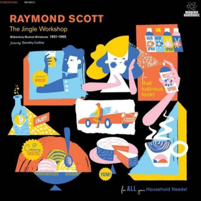 Raymond Scott - The Jingle Workshop: Midcentury Musical Miniatures 1951-1965 [2LP] (Blue & Gold Vinyl, limited to 1000, indie advance-exclusive)