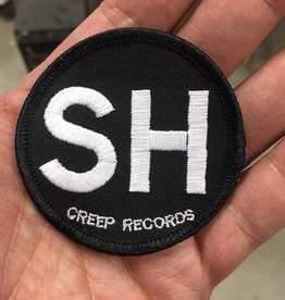 "SH Died For Our Sins Memorial Patch (Round 2-1/2"" Black Background & Black Border)"