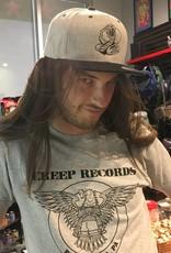 Creep Records Grey Snake Snapback
