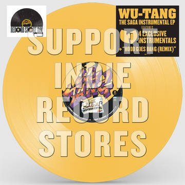 Wu-Tang - The Saga Instrumental [EP] (Yellow Vinyl, download, clear sleeve, limited to 3000, indie-retail exclusive)