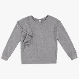 Splendid Ruffle Sweatshirt Charcoal