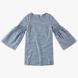 Splendid Splendid Bell Sleeve Dress Denim