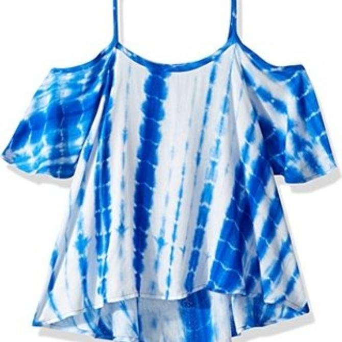 Splendid Girl's Blue Tie-Dye Cami Top