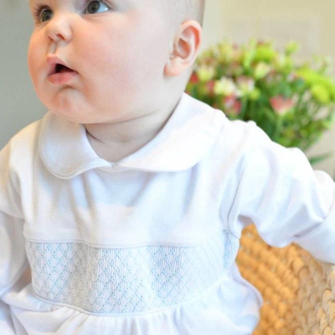 Peggy Green Knit Jones Footies White Pima