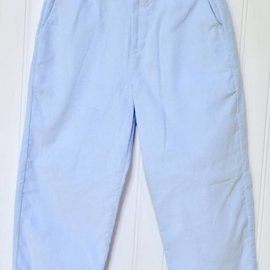 Peggy Green Boy's Light Blue Cord Pant
