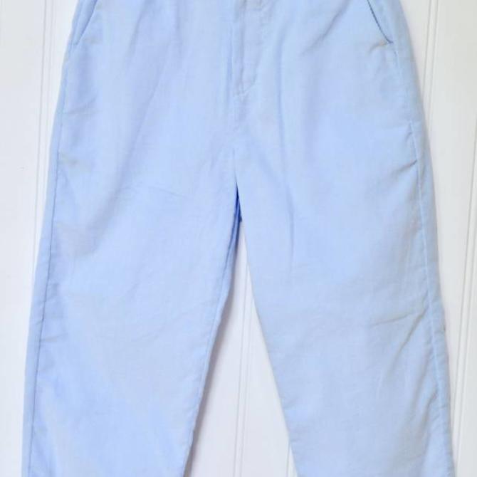 Peggy Green Boy's Light Blue Cord Pant