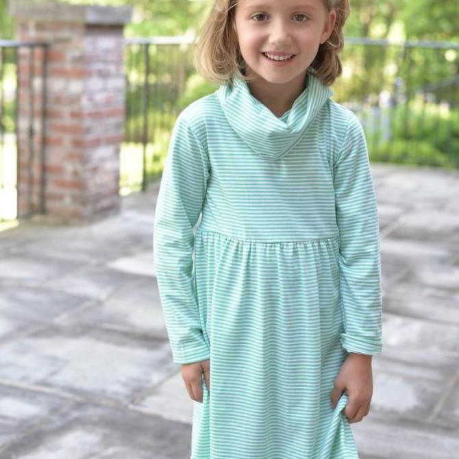 Peggy Green Peggy Green Smocked Millie Dress - cumberland floral with blue jay smocking