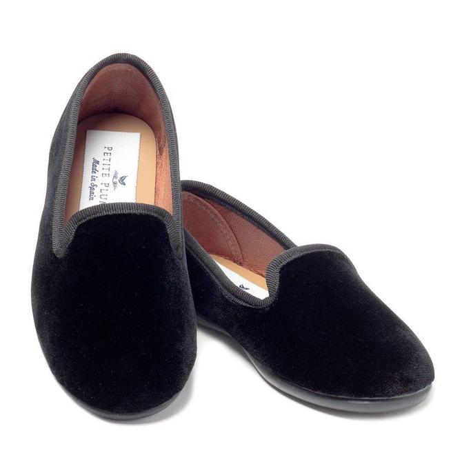 Petite Plume Petite Plume Hamptons Loafer Black Velvet