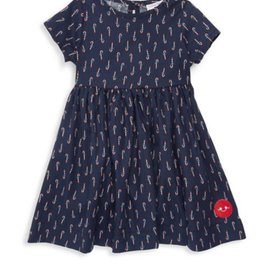 Smiling Button Smiling Button Navy Candy Canes Sunday Dress