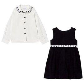 Rachel Riley Heart Trim Dress Set