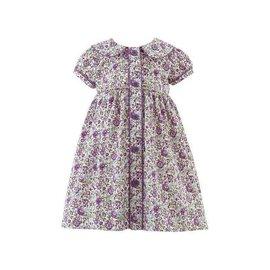 Rachel Riley Floral Button Front Dress Lilac