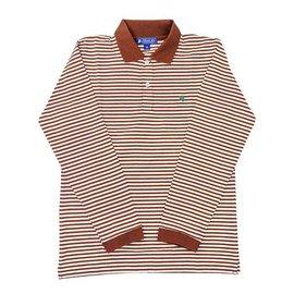 The Bailey Boys J Bailey Long Sleeve Stripe Polo Brown