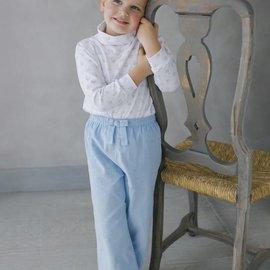 Little English Little English Girls Banded Bow Pant Light Blue