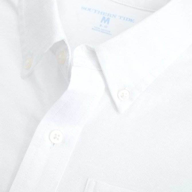 Southern Tide Southern Tide Youth Oxford Sportshirt Classic White