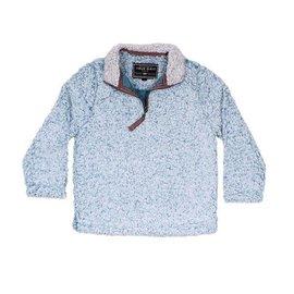 True Grit Aqua Frosty Tip 1/4 Zip Pullover