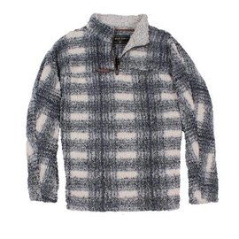 True Grit Charcoal Plaid Frosted Tip 1/4 Zip Pullover