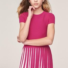 Milly Mini Milly Mini Pleated Contrast Flair Dress