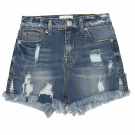 Hudson Fray Hem Hight Waist Short Indigo Mix
