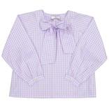 CPC Childrenswear Lavender Gingham Becca Neck Tie Shirt