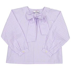 CPC Childrenswear Lavender Gingham Becca Neck Tie Shirt