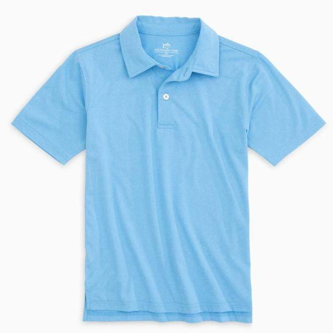 Southern Tide Southern Tide Youth Heathered Performance Polo