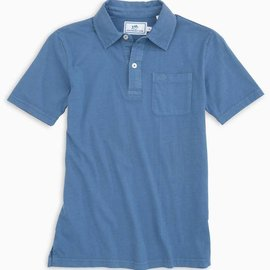 Southern Tide Southern Tide Youth Island Road Jersey Polo Dutch Blue