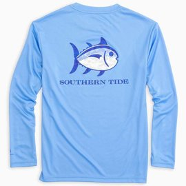Southern Tide Southern Tide Youth LS Camo Skipjack Performance T-Shirt