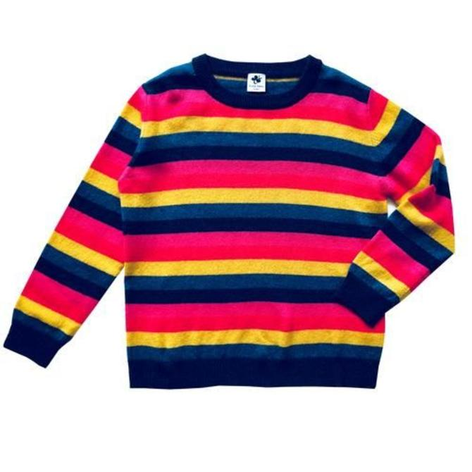 Busy Bees Cashmere Crewneck Multistripe