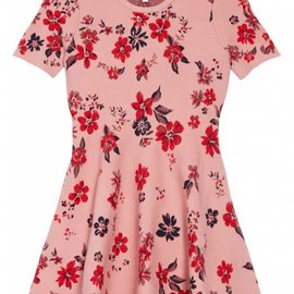 Milly Mini Milly Mini Twilight Floral Flare Dress Pale Pink