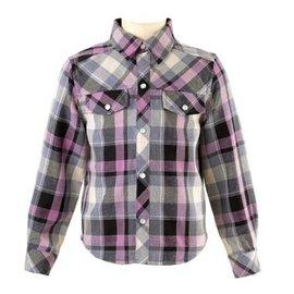 Rachel Riley Checked Flannel Shirt Lilac