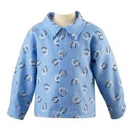 Rachel Riley Horseshoe Flannel Shirt Blue