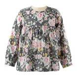 Rachel Riley Rose Baby Doll Top Pink/Grey