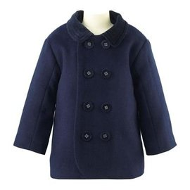 Rachel Riley Velvet Trim Pram Coat Navy