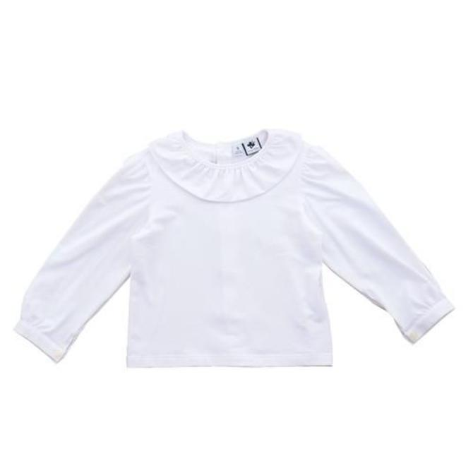 Busy Bees Busy Bees Eloise Ruffle Blouse White