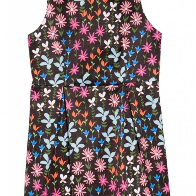 Milly Mini Milly Minis Shift Dress Multi Black w Flowers